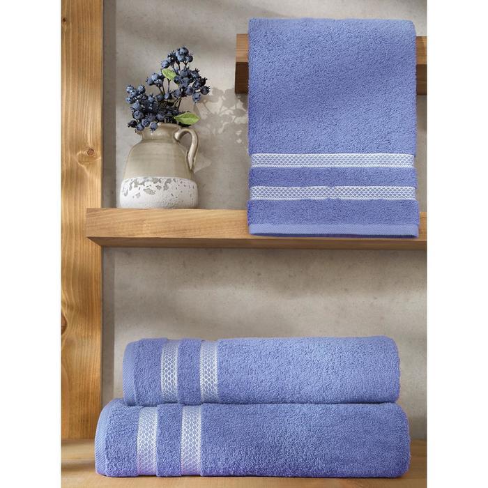 Полотенце Petek, размер 50 × 100 см, голубой