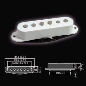 Звукосниматель Belcat BS-01Bridge-WH  магнитный, сингл, бриджевый, белый