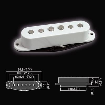 Звукосниматель Belcat BS-01Bridge-WH  магнитный, сингл, бриджевый, белый - Фото 1