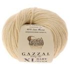 """Пряжа """"Baby Wool XL"""" 20% кашемир, 40% меринос. шерсть, 40% акрил 100м/50гр (829 молочный) - Фото 2"""