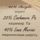 """Пряжа """"Baby Wool XL"""" 20% кашемир, 40% меринос. шерсть, 40% акрил 100м/50гр (829 молочный) - Фото 3"""