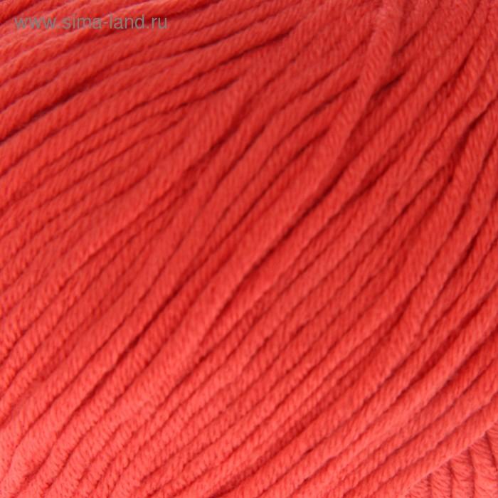 """Пряжа """"Baby Cotton XL"""" 50% хлопок, 50% полиакрил 105м/50гр (3418 коралловый)"""