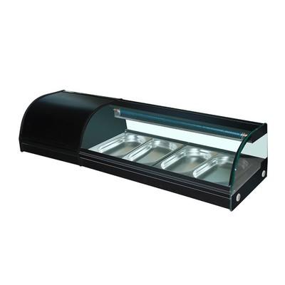 Витрина GASTRORAG VRX-TS1200, 250 Вт, от +4 до +8°С, 4 гастроёмкости GN 1/3-25 мм, подсветка