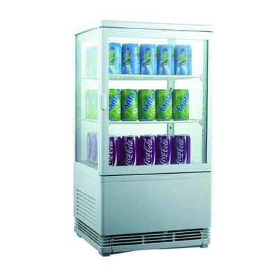 Холодильный шкаф GASTRORAG RT-58W, витринного типа, 180 Вт, 58 л, от 0 до +12°С, подсветка