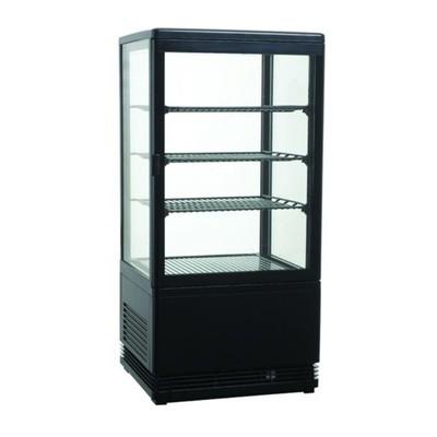 Холодильный шкаф GASTRORAG RT-78B, витринного типа, 180 Вт, 78 л, от 0 до +12°С, подсветка