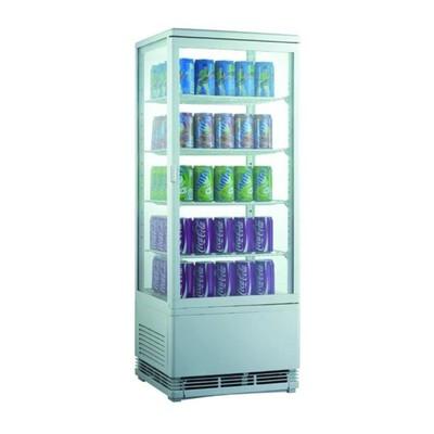Холодильный шкаф GASTRORAG RT-98W, витринного типа, 180 Вт, 96 л, 0 до +12°С, подсветка