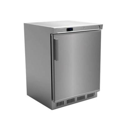 Холодильный шкаф GASTRORAG SNACK HR200VS/S, 129 л, 3 полки-решётки, +2 до +6°С, серебристый