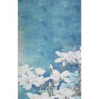 """Фотофон винил """"Белые цветы"""" 80х125 см"""