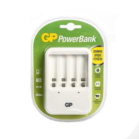 Зарядное устройство GP PB420, для аккумуляторов 4хAA/AAA, белый Ош