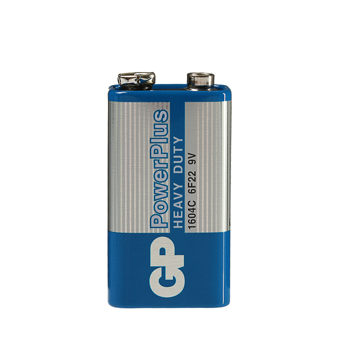 купить Батарейка солевая GP PowerPlus Heavy Duty, 6F22 1604C-1S, 9В, крона, спайка, 1 шт.