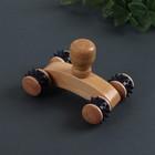 Массажёр деревянный, 4 колеса, цвет МИКС