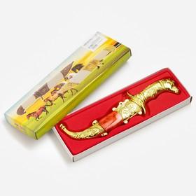 Сувенирный нож,19 см, рукоять в форме головы лошади, микс Ош