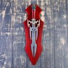 Сувенирный меч на планшете, раздвоенное лезвие, 45см