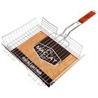 Решётка-гриль для мяса, 25 х 35 х 56 см, Lux, глубокая - Фото 3