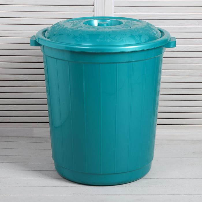 Бак пищевой, 80 л, с крышкой, цвет МИКС