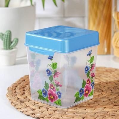 Контейнер для сыпучих продуктов, 1,3 л, цвет МИКС - Фото 1