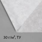 Материал укрывной, 5 ? 1,6 м, плотность 30, с УФ-стабилизатором, белый, Greengo, Эконом 20%