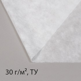 Материал укрывной, 5 × 1,6 м, плотность 30, с УФ-стабилизатором, белый, Greengo, Эконом 20% Ош