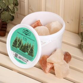 Гималайская розовая соль 'Добропаровъ' с маслом ели, колотая, 50-120мм, 2 кг Ош
