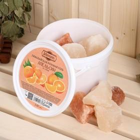 Гималайская розовая соль 'Добропаровъ' с маслом апельсина, колотая, 50-120мм, 2 кг Ош
