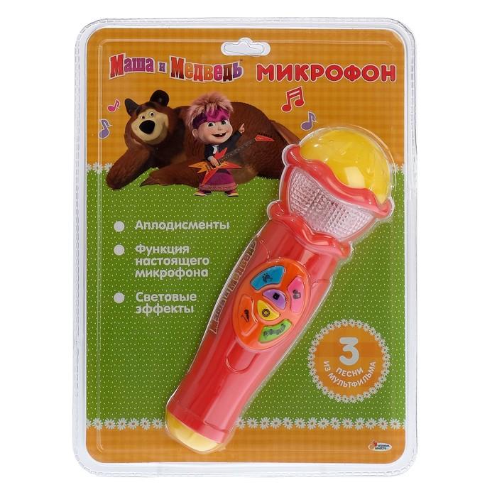 """Микрофон """"Маша и Медведь"""" на бат. свет+звук A848-H05031-R2"""