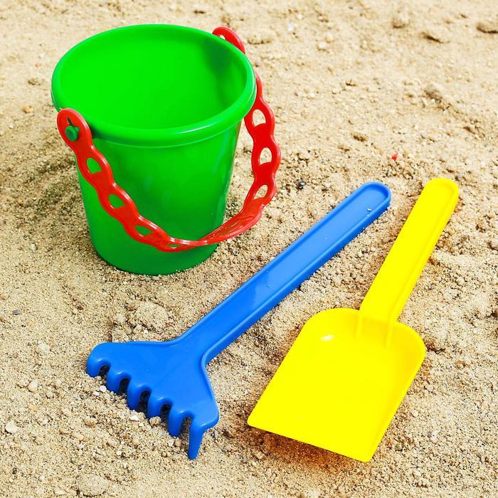 Песочный набор ведёрко, лопатка, грабельки