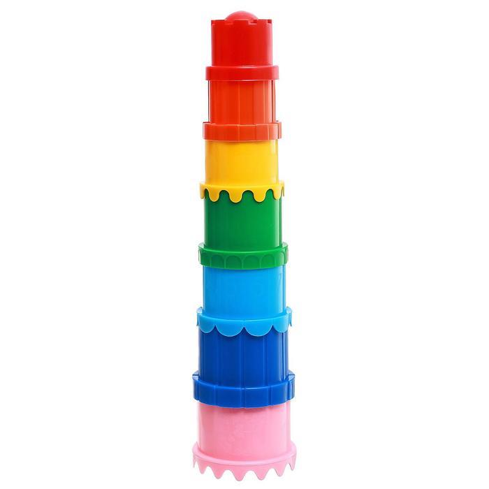 Наборы для игры в песке пирамидка 71, цвета МИКС