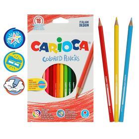 Карандаши 18 цветов Carioca 41865, 3.0 мм, шестигранные, картонная коробка