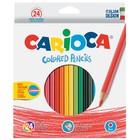 Карандаши 24 цветов Carioca 40381 3.0 мм шестигранные, картонная коробка