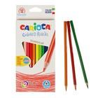 Карандаши 12 цветов Carioca 42515, 3.5 мм, трёхгранные, картонная коробка