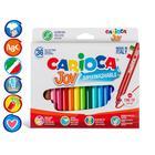 Фломастеры 36 цветов Carioca Joy 2.6мм, картонная коробка. 40616/36