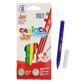 Фломастеры 6 цветов Carioca Joy, 2.6 мм, в картонном конверте