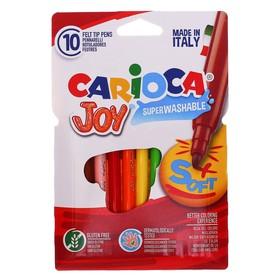 Фломастеры 10 цветов Carioca Joy 2.6 мм, в картонном конверте
