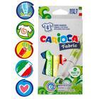 Фломастеры для ткани 6 цветов, Carioca Fabric, 6.0 мм