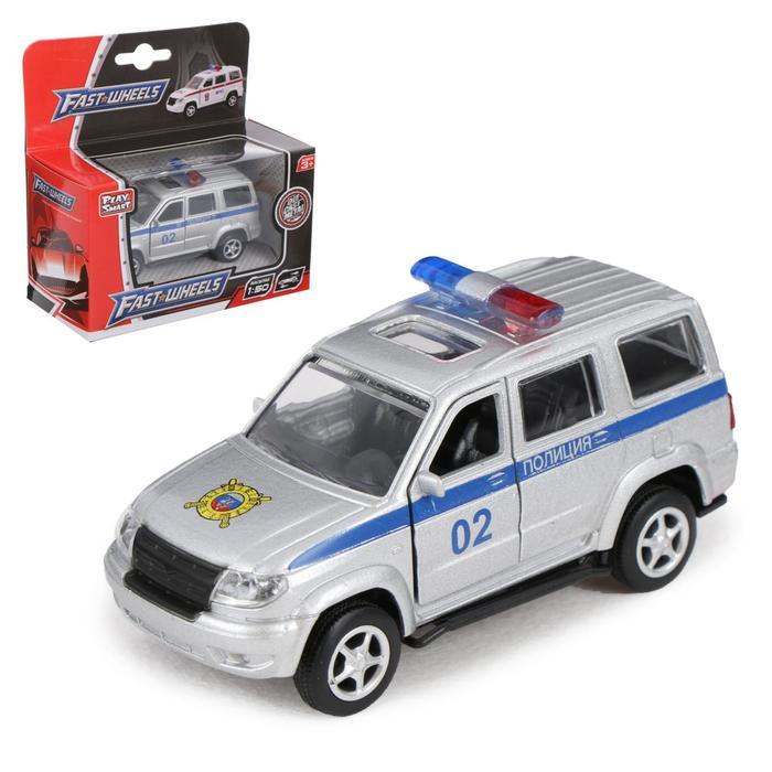 """Машина металлическая """"Патриот Полиция"""", масштаб 1:50, инерция"""