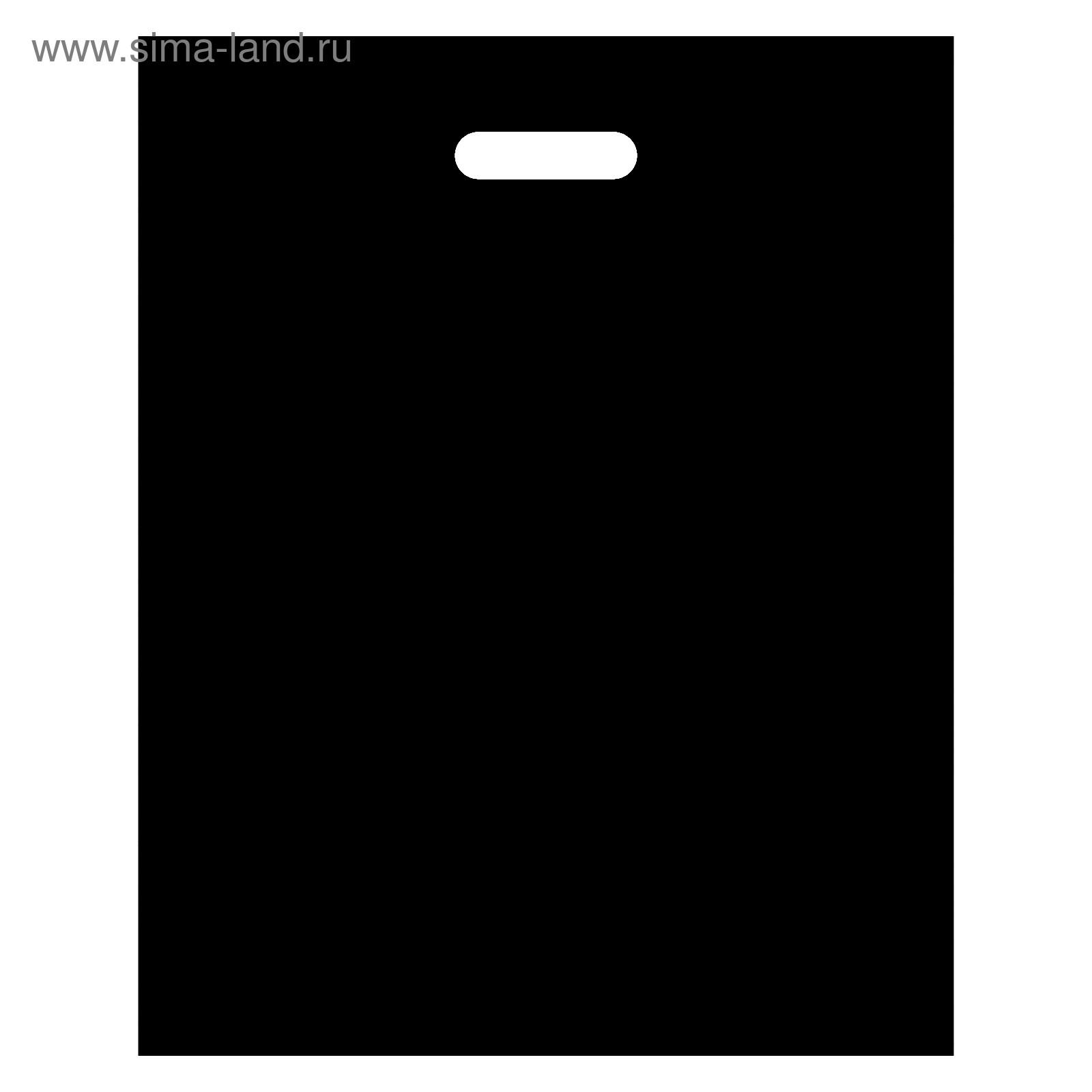 пакет черный полиэтиленовый с вырубной ручкой купить