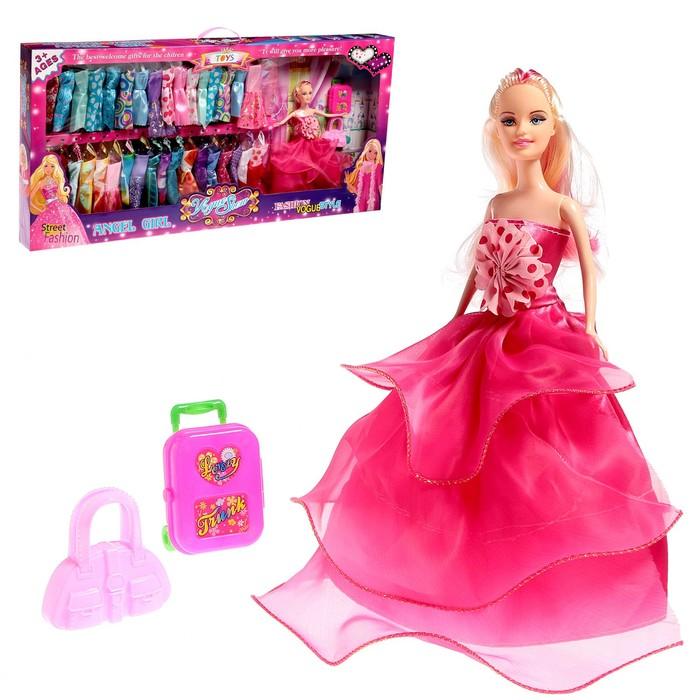 Кукла модель «Дебра» с набором платьев, с аксессуарами, МИКС