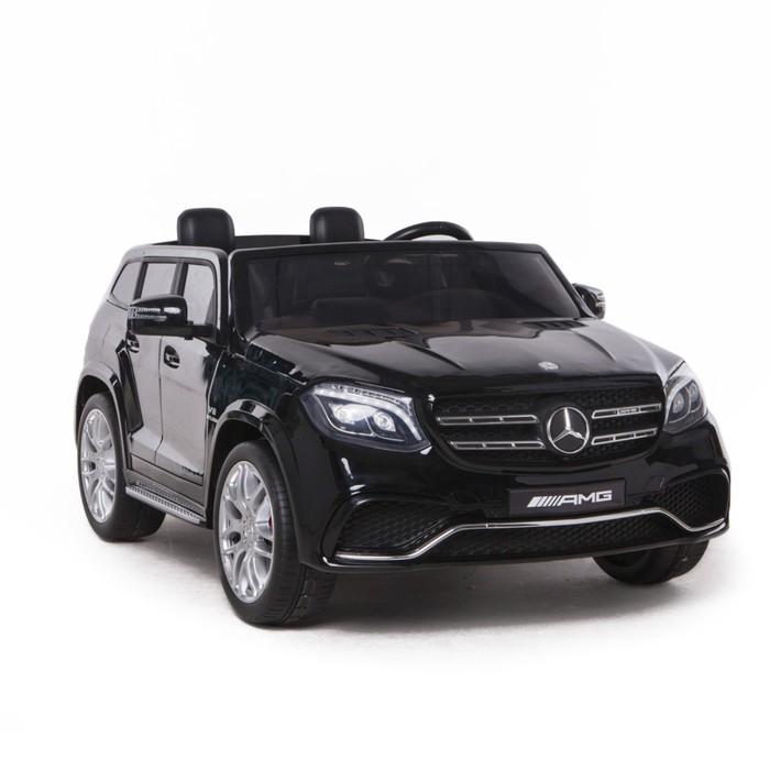 Электромобиль MERCEDES-BENZ GLS AMG, 4WD полный привод, цвет чёрный, EVA колёса