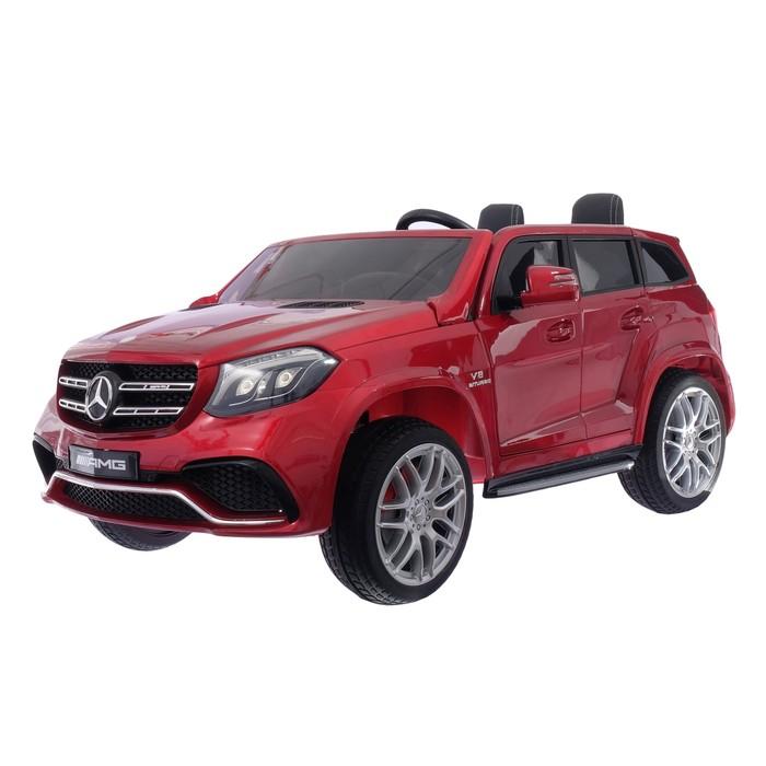 Электромобиль MERCEDES-BENZ GLS AMG, 4WD полный привод, EVA колёса, цвет красный глянец