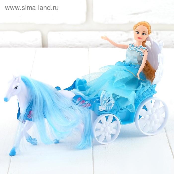 """Карета для кукол """"Волшебная прогулка"""" с куклой, с аксессуарами"""