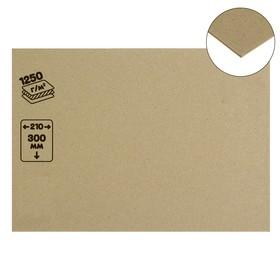 Картон переплетный 2.0 мм, 21х30 см, 1250 г/м², серый Ош
