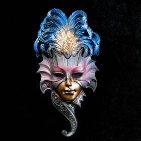 Венецианская маска 'Сова'  28см золото МИКС Ош