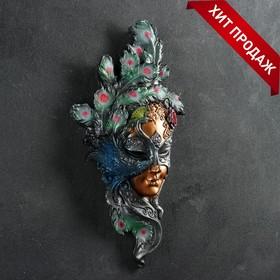 Венецианская маска 'Павлин' цветной 35см Ош
