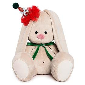 Мягкая игрушка «Зайка Ми», в колпачке с зелёным бантиком, 18 см