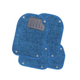 Коврики автомобильные универсальные AUTOPROFI, вкладыши ковролиновые для ковриков TER-500i, 4 предмета, синий Ош