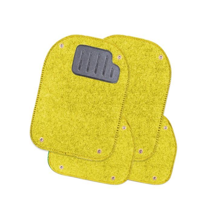 Вкладыши ковролиновые для ковриков TER-500i, 4 шт, жёлтый