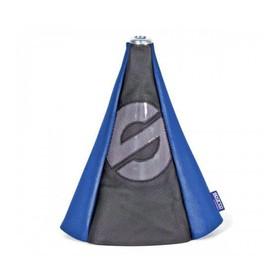Чехол на рычаг механической КПП SPARCO, универсальный, чёрный/синий