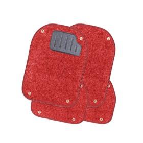Коврики автомобильные универсальные AUTOPROFI, вкладыши ковролиновые для ковриков TER-500i, 4 предмета, красный Ош