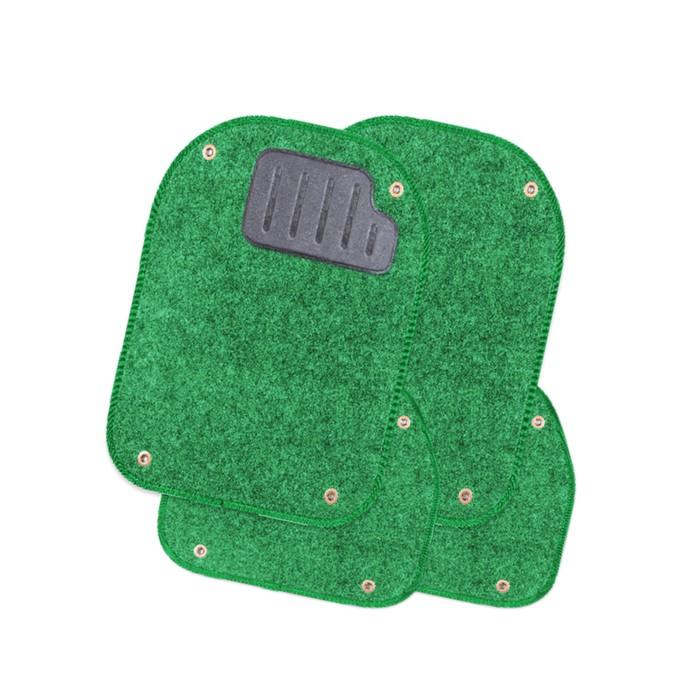 Вкладыши ковролиновые для ковриков TER-500i, 4 шт, зелёный