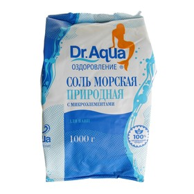 Соль морская Dr.Aqua природная в п/эт, 1 кг